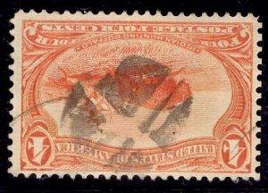 US Stamp #287 4c Trans-Mississippi USED SCV $25.00