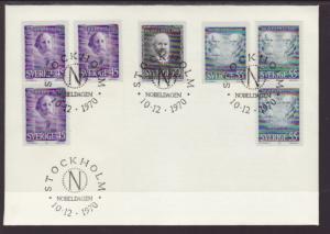 Sweden 878-882 Nobel Prize U/A FDC