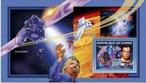 Space Stamp Richard Branson Virgin Galactic Frank Baudry S/S MNh #4530 / Bl.1108