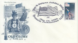 2003 Uncle Samw/Bicycle, Flag  (Scott 3776) Artcraft Old Glory  Pictorial