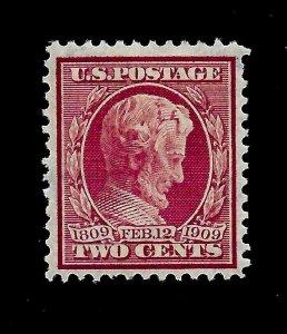US 1909 Sc# 367 2 c  Lincoln Mint VLH - Vivid Color - Centered