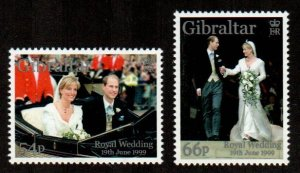 Gibraltar #820-821  MNH  Scott $4.00