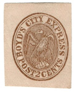 (I.B) US Local Post : Boyd's City Express 2c