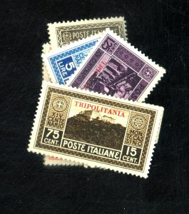 TRIPOLITANIA #28-34 MINT FVF OG 31-3 NH REST HR CAT $118