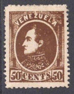 VENEZUELA 72a DEEP BROWN OG H M/M VF $93 SCV