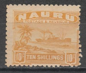 NAURU 1924 SHIP 10/- ROUGH PAPER