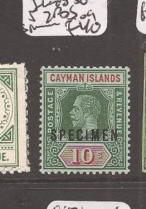 Cayman Islands KGV 10/- SG 52 white back Specimen MOG (8axs)