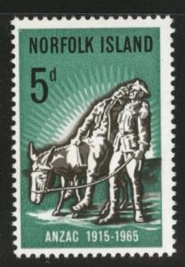 Norfolk Island Scott 69 MH* 1969 ANZAC stamp
