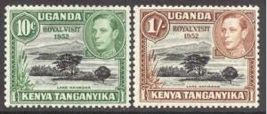 Kenya Uganda # 98-99 Royal Visit 1952 (2)   Unused VLH