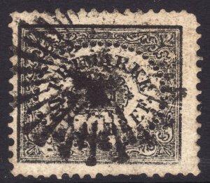 1858 Sweden Stamp for City Postage (1sk) 3o Used Sc# LX1 CV $550.00
