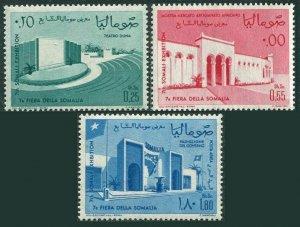 Somalia 271-272,C92,MNH.Michel 54-56. Somali Fair 1963.Dunes theater,Exhibit,