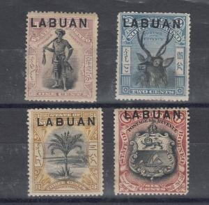 Labuan Early Mint Collection Of 4 1c 2c 3c 6c SG89/90/91/93 MH J5198