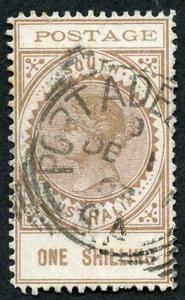 South Australia SG275 1/- brown Thin postage fine used
