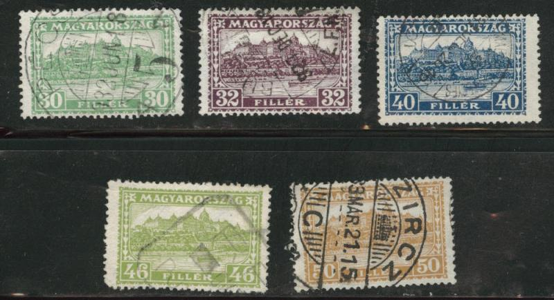Hungary Scott 437-441 Used set