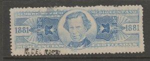 Mexico fiscal cinderella Revenue stamp- 8-21-b61