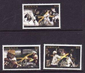 Jamaica-Sc#966-8-Unused NH set-Independence-2002-