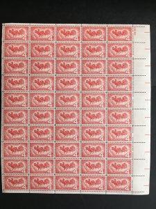 1958 sheet, Overland Mail, Sc# 1120