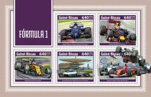 Guinea-Bissau - 2018 Formula 1 Racing - 5 Stamp Sheet - GB18203a
