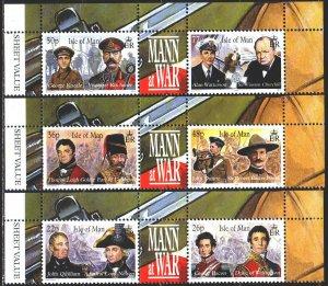 Isle Of Man. 2000. 864-69. War veterans from Maine, Churchill. MNH.