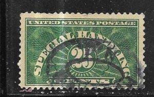 US #QE4 $0.25 deep green   (U) CV $3.75