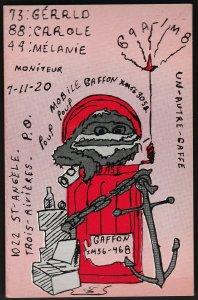 QSL QSO RADIO CARD Gaffon/Un Autre Gaffe, Trois-Rivières, Quebec ((Q324)