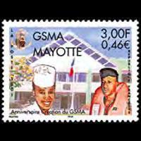 MAYOTTE 2001 - Scott# 153 Mil.Service Set of 1 NH