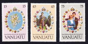 Vanuatu Charles and Diana Royal Wedding 3v SG#315-317 SC#308-310