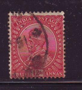 India Sc 92 1911 12 a  G V stamp used