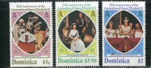 Dominica MNH 570-2 25th Anniversary Coronation QE II