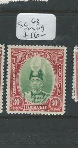MALAYA KEDAH (PP0710B) SULTAN 30C  SG 63    MOG