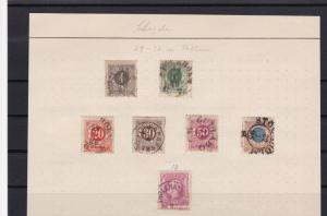 sweden early used stamps ref r8803