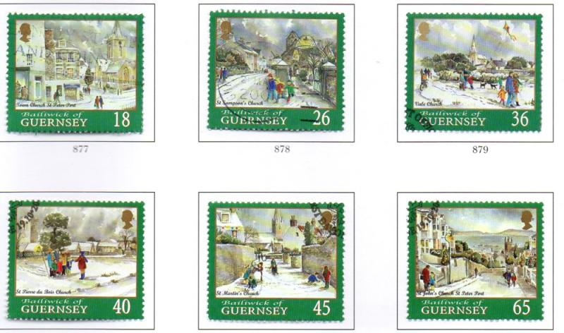 Guernsey Sc 720-5 2000 Christmas stamp set used