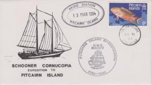 Pitcairn Island 9c Variola louti Fish 1984 Pitcairn Islands, Post Office with...