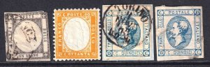 ITALY COLLECTION LOT OG H M/M USED FIRST ISSUES x4 #1 HIGH CATAOGUE VALUE $$$$$