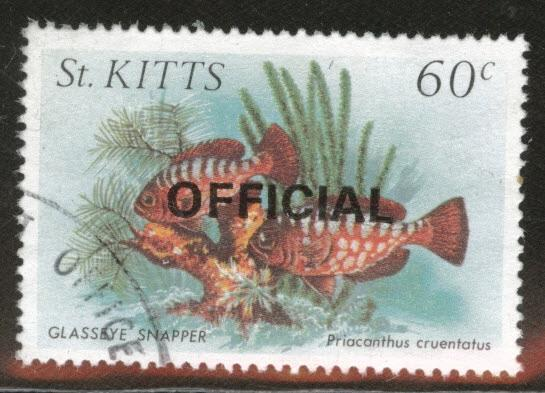 St Kitts Scott o35 used 1984 Official stamps CV$1.10