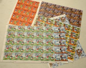 6 Sierra Leone DISNEY DONALD Topical Stamps Postage Blocks Sheets Collection MNH
