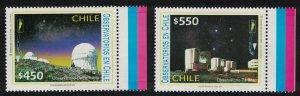 Chile Observatories Astronomy 2v Colour margins SG#2057-2058 MI#2078-2079