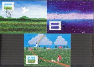 Liechtenstein 2000 Art Paintings Birds 3 Maxi Cards FDC