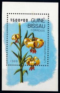 [67319] Guinea Bissau 1989 Flora Flowers Blumen Souvenir Sheet MNH