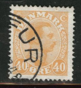 DENMARK  Scott 119 used 1925 stamp