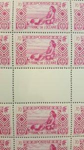 French Polynesia #99* NH Full sheet of 50  CV $70.00+