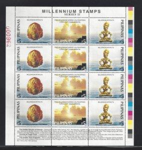 2661 Millenium/Palawan/Pusan Point/Agusan CV$14 Full Sheet