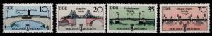 Germany GDR 2500-3 MNH Bridges