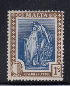 Malta Sc 109 1922 1/  Britannia & Malta stamp mint