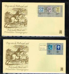 1976 - Netherlands cover Stamps Day Nr.9 with NVPH 1098-1102 - s-Gravenhage -...
