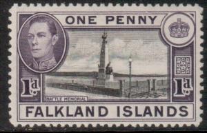 Falkland Is Scott 85b- SG148, 1938 George VI 1d MH*