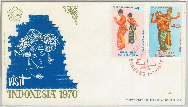 64884 -  INDONESIA - POSTAL HISTORY -  FDC COVER 1970  - ETHNIC Costumes DANCE