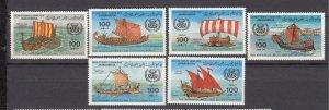 J27512 1983 libya set mnh #1090-5 ships