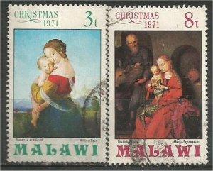 MALAWI 1971, used 3t&8t, Paintings Scott 178-179