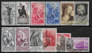 Italy mini collection of 12 used stamps 2018 SCV $12.20  -see description- 1790